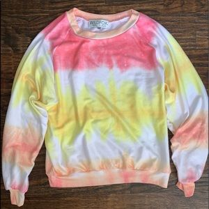 Wildfox Tie Dye Sweater (Baggy Beach Jumper)